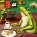 カフェのカエル